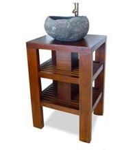 waschtisch aus teakholz untertisch f r aufsatzwaschbecken. Black Bedroom Furniture Sets. Home Design Ideas
