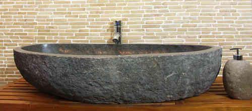 waschbecken aus flussstein bafs xl2 ein unikat f r ihr bad. Black Bedroom Furniture Sets. Home Design Ideas