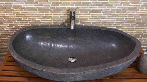 Flussstein Waschbecken Erfahrung : Waschbecken aus flussstein bafs xl ein unikat f?r ihr bad