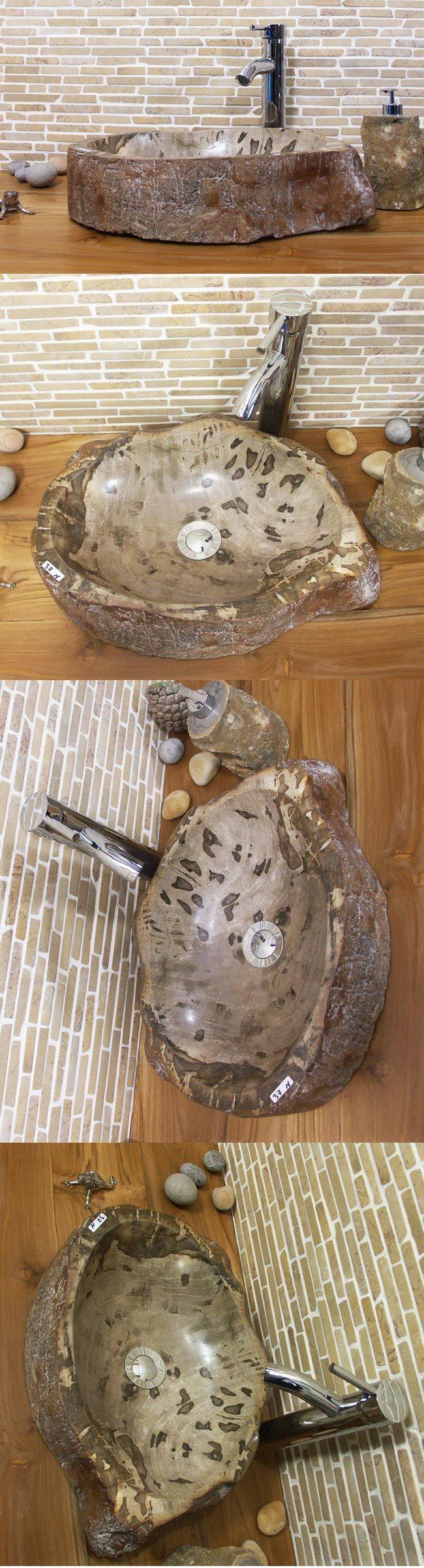 waschbecken aus versteinertem holz bafh37n ein unikat im bad. Black Bedroom Furniture Sets. Home Design Ideas