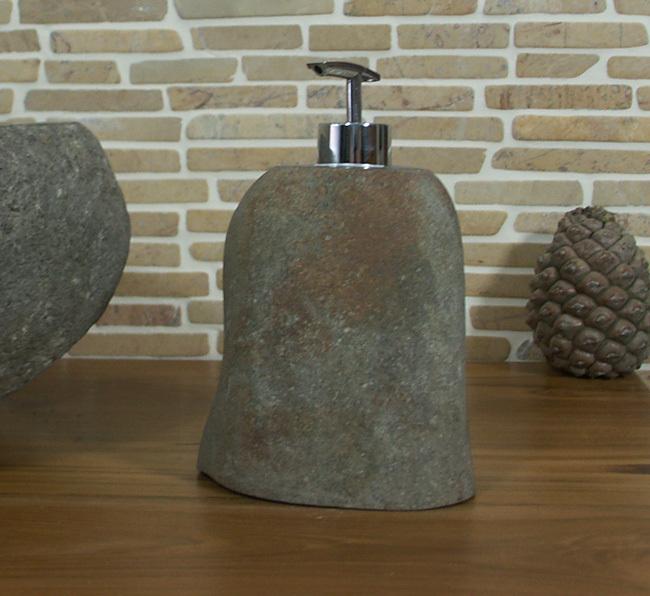 seifenspender aus flussstein fssp8 ein unikat f r bad k che. Black Bedroom Furniture Sets. Home Design Ideas