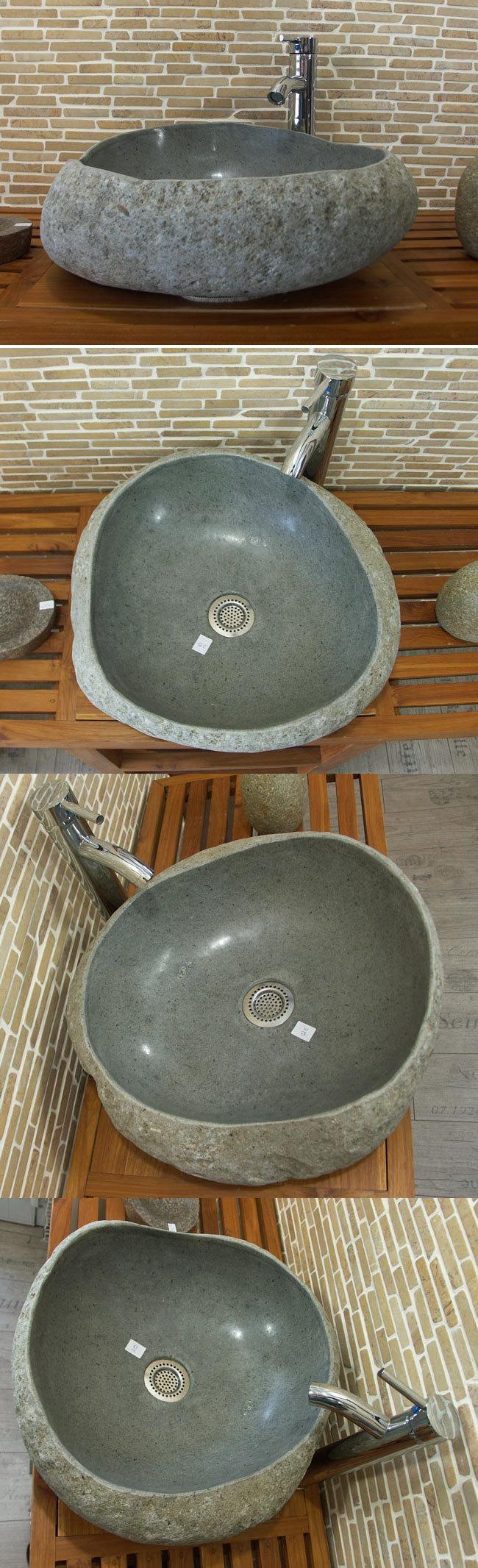 waschbecken aus flussstein bafs 12e ein unikat f r ihr bad. Black Bedroom Furniture Sets. Home Design Ideas