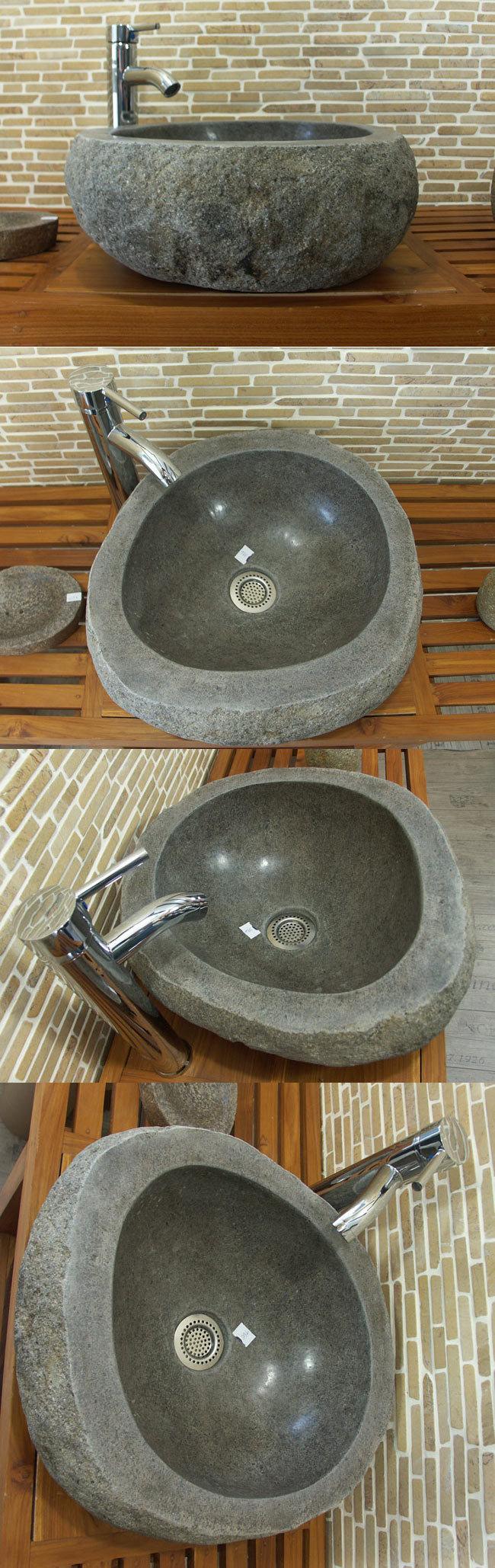 waschbecken aus flussstein bafs 16e ein unikat f r ihr bad. Black Bedroom Furniture Sets. Home Design Ideas