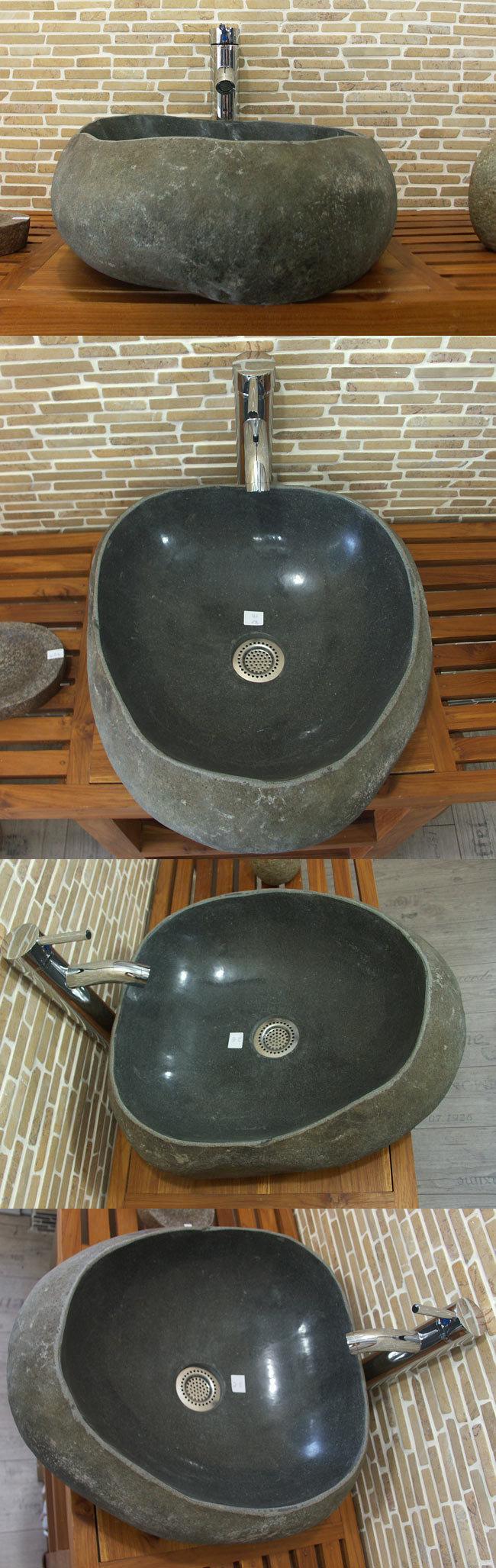 waschbecken aus flussstein bafs 2e ein unikat f r ihr bad. Black Bedroom Furniture Sets. Home Design Ideas