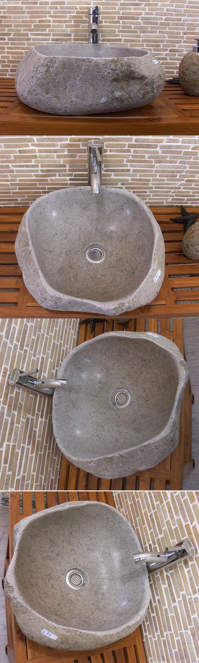 waschbecken aus flussstein bafs 27e ein unikat f r ihr bad. Black Bedroom Furniture Sets. Home Design Ideas
