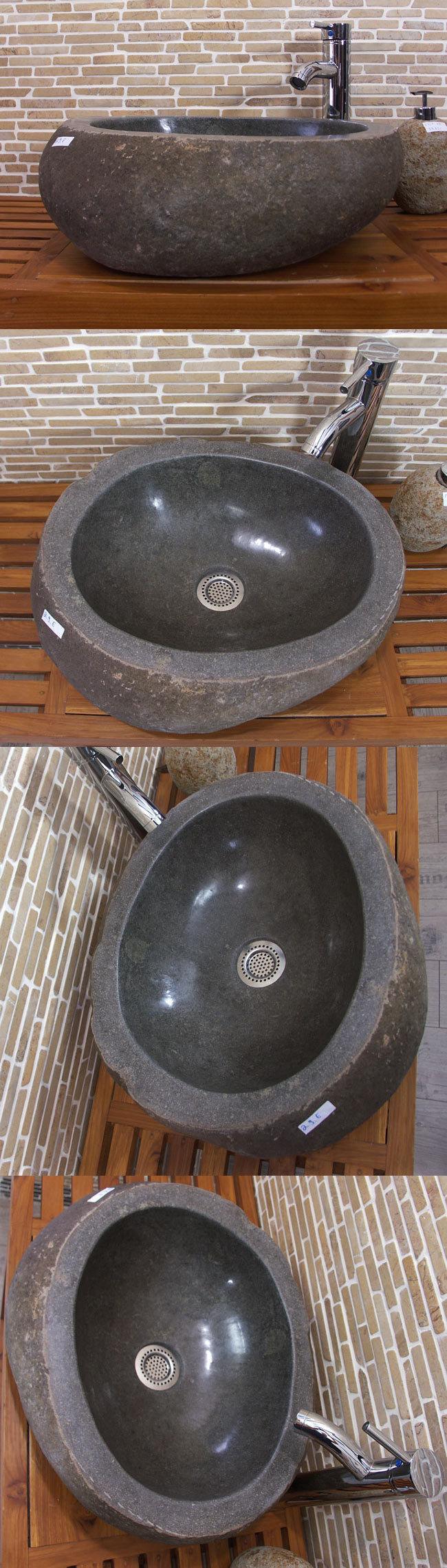 waschbecken aus flussstein bafs 29e ein unikat f r ihr bad. Black Bedroom Furniture Sets. Home Design Ideas
