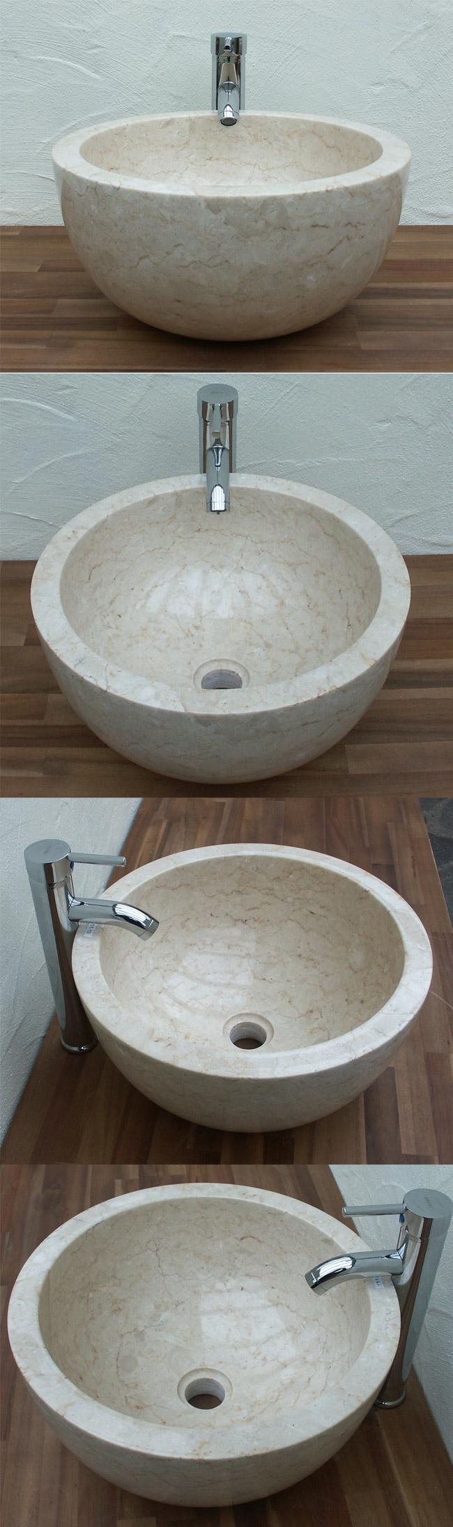 waschbecken aus marmor au en und innen poliert ein unikat. Black Bedroom Furniture Sets. Home Design Ideas