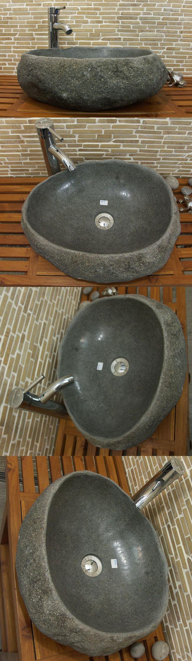 waschbecken aus flussstein bafs 50e ein unikat f r ihr bad. Black Bedroom Furniture Sets. Home Design Ideas