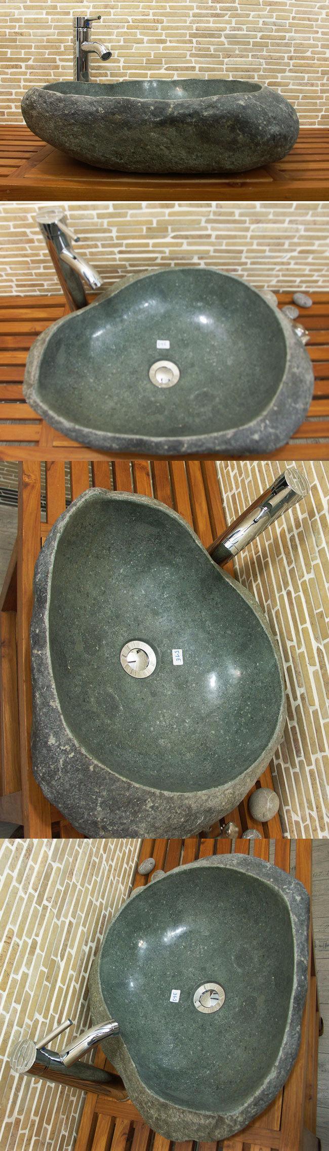 waschbecken aus flussstein bafs 51e ein unikat f r ihr bad. Black Bedroom Furniture Sets. Home Design Ideas
