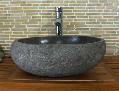waschbecken aus flussstein bafs1 s48n b ware einzelst ck. Black Bedroom Furniture Sets. Home Design Ideas