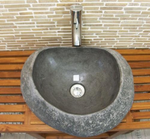 waschbecken aus flussstein bafs 55e ein unikat f r ihr bad. Black Bedroom Furniture Sets. Home Design Ideas