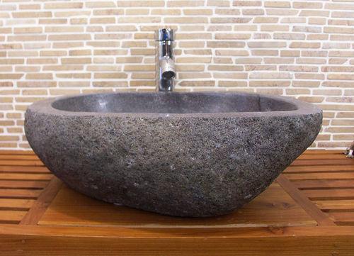waschbecken aus flussstein bafs 53e ein unikat f r ihr bad. Black Bedroom Furniture Sets. Home Design Ideas