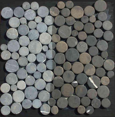 1x Coin Marmor Fliesenmatte Karree Aberdeen Grau 30cm X 30cm