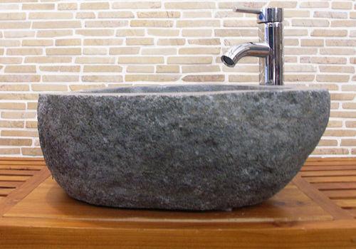 waschbecken aus flussstein bafs 57e ein unikat f r ihr bad. Black Bedroom Furniture Sets. Home Design Ideas