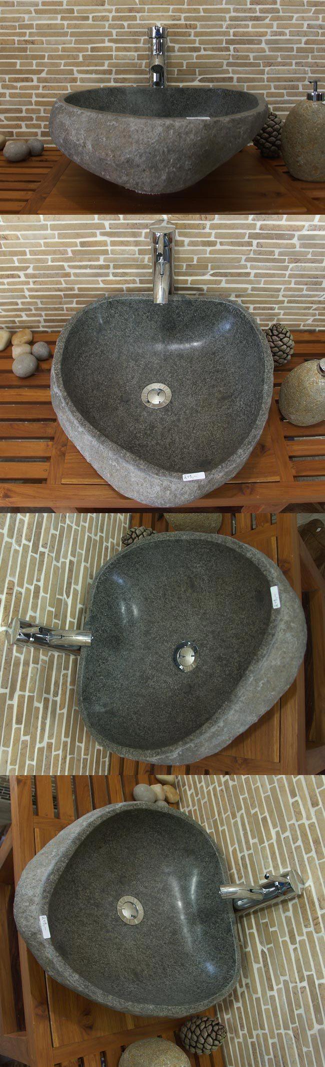 waschbecken aus flussstein bafs1 s80n ein unikat f r ihr bad. Black Bedroom Furniture Sets. Home Design Ideas