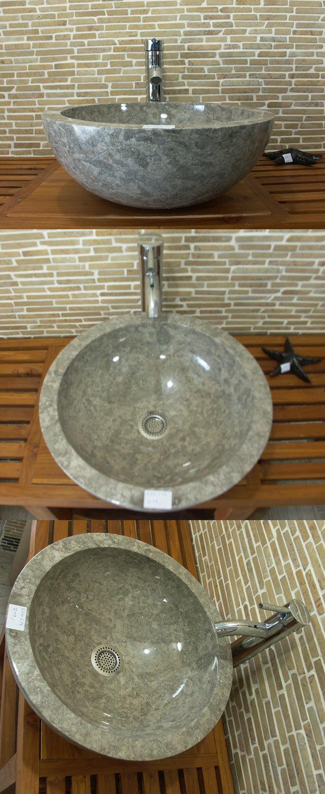 Marmor Waschbecken waschbecken aus marmor dunkelgrau außen und innen poliert baws14