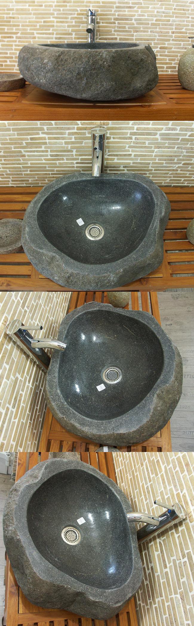 waschbecken aus flussstein bafs 14e ein unikat f r ihr bad. Black Bedroom Furniture Sets. Home Design Ideas