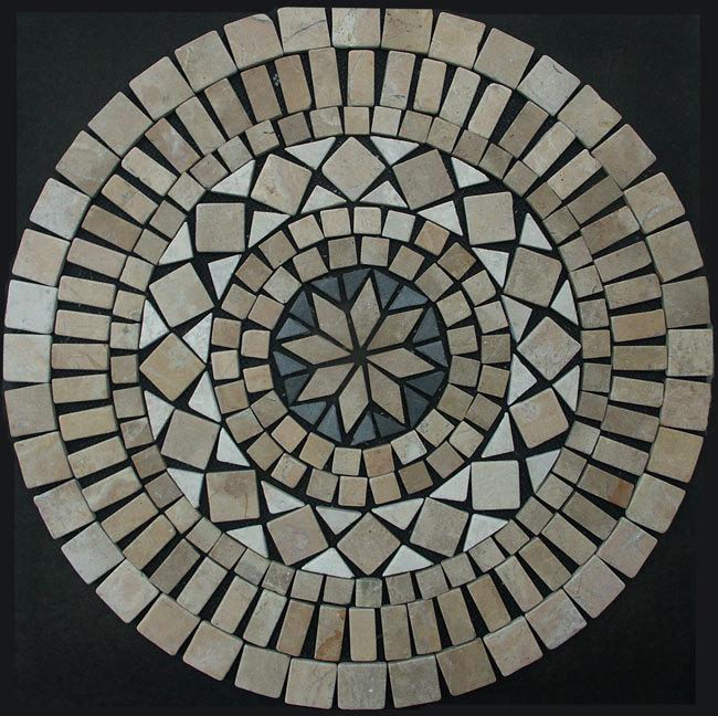1 x mosaik ornament aus marmor 60 cm x 60 cm ein hingucker. Black Bedroom Furniture Sets. Home Design Ideas