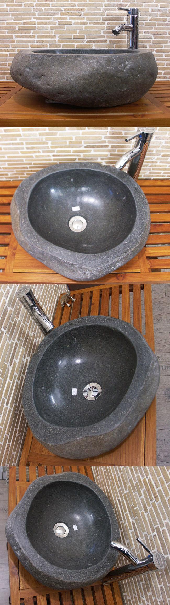 waschbecken aus flussstein bafs 58e ein unikat f r ihr bad. Black Bedroom Furniture Sets. Home Design Ideas