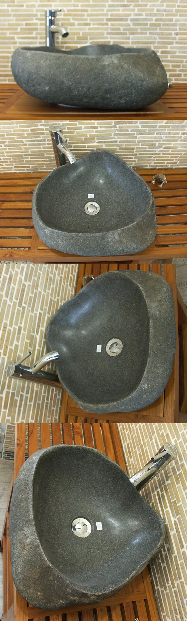 waschbecken aus flussstein bafs 59e ein unikat f r ihr bad. Black Bedroom Furniture Sets. Home Design Ideas