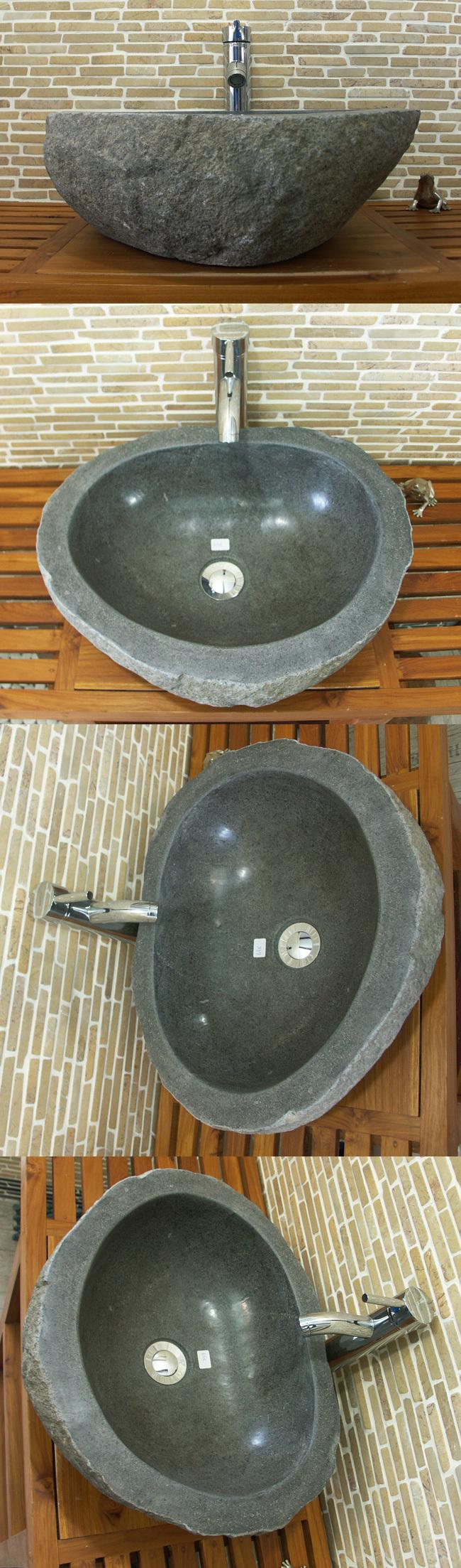 waschbecken aus flussstein form bafs 63e ein unikat im bad. Black Bedroom Furniture Sets. Home Design Ideas